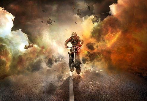 Off Road Buggy, Motorcycle, Jump, Bike, Motorcycles