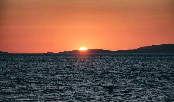 Sunset, Sundown, Nature, Sky, Landscape, Sea, Ocean
