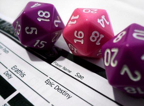 Rpg, Game, Play, Dice, Dungeons, Dragons, Die, Number