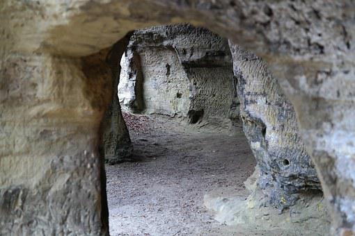 Caves, Passage, Breakthrough, Place Of Pilgrimage