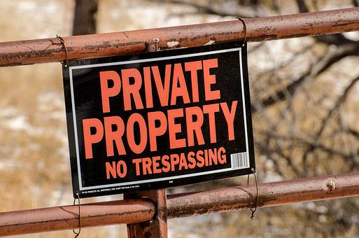 Private Property, Sign, Gate, Private, Property