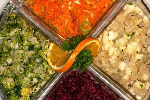 Salad, Salad Plate, Eat, Cauliflower Salad