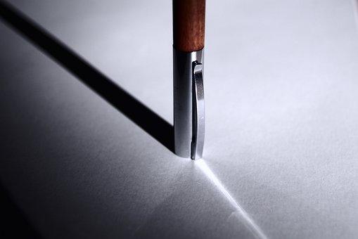 Pen, Shadow, Silver, Nib, Writing, To Write, Poet
