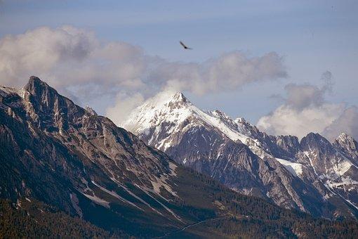 Nordkette Mountain Range, Austria, Tirol, Snow Capped