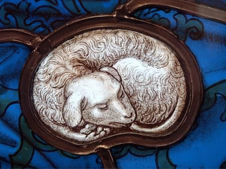 Stained Glass, Lamb, Sacrifice, Stained, Glass, Window