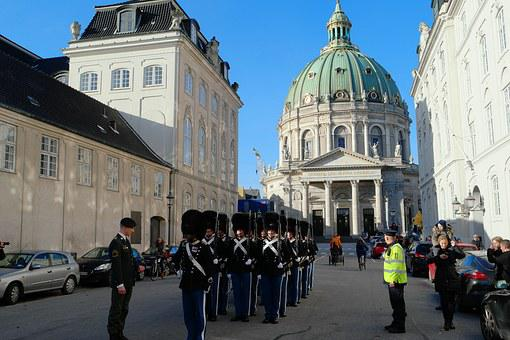 Royal Life Guards, Soldiers, The Marble Church, Tourist