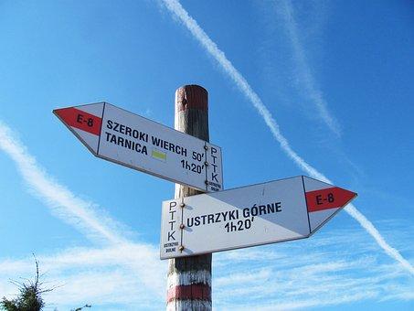Signpost, Trail, Hiking Trail, Hiking Trails, Tourism