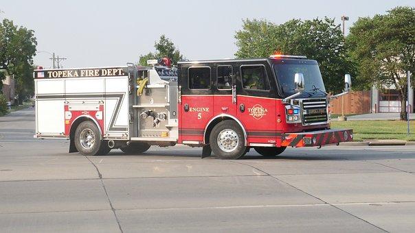 Topeka, Fire, Department, Truck, Emergency, Vehicle