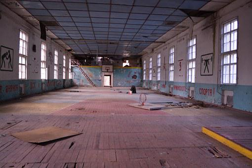 Abandoned Place, Gym, Vogelsang, Old Military Town, Ddr