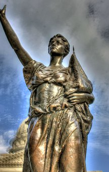Women's Rights, Statue, Madison, Wisconsin, Bronze, Usa