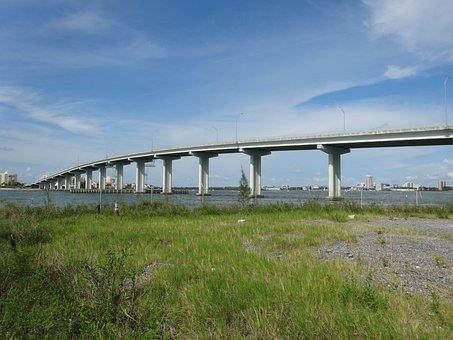 Bridge, Mar, Ocean, Landscape, Clearwater