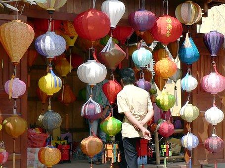 Viet-nam, Hoi-an, Color, Display, Market