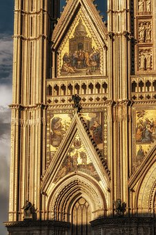 Cathedral, Dom, Italy, Orvieto, Masterpiece, Gold