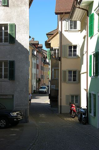 Switzerland, Bremgarten, Old Town, Summer, Alley, Eng