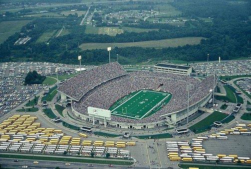 Football Stadium, Air, Balloon, Football, Sport