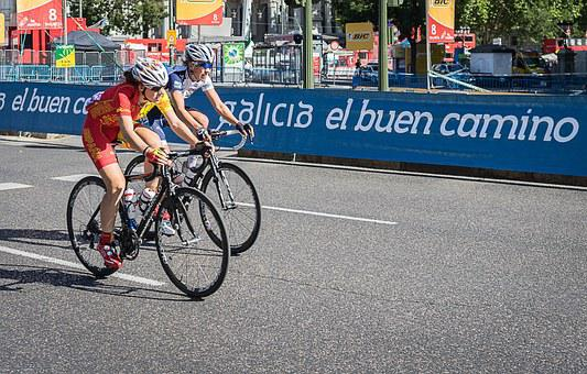 Sport, Cyclists, Tour, The Turn, Bicycle, Galicia