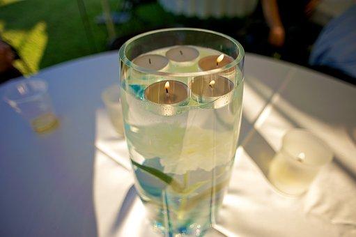 Tea Lights, Tealights, Tea Candles, Floating, Glass
