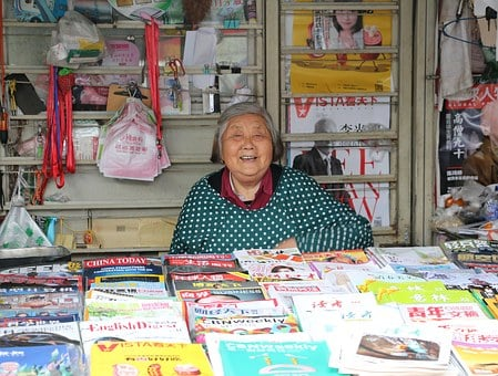 Grandmother, Kindly, Paper Media, Old Age