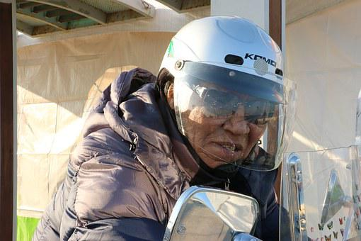 Grandpa, Motorcycles, Showing Me My Helmet