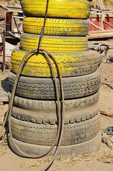 Tyres, Tires, Junk, Junk Yard, Old, Rubber, Trash, Used