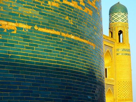 Khiva, Morning, Kalta Minor, Short Minaret