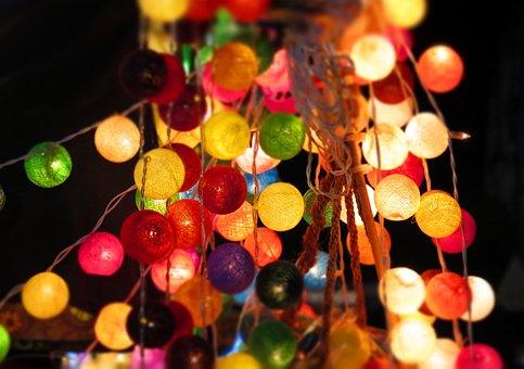 Lichterkette, Chinese Lanterns, Lights, Lighting, Light