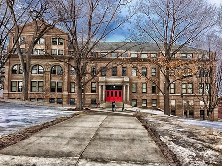 Madison, Wisconsin, University, Building, Hdr, Winter