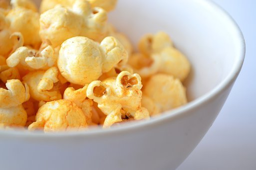 Popcorn, Food, Corn, Maize, Puffed, Fried, Snack, Bowl