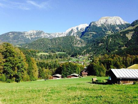 Alm, Bavaria, Pasture, Germany, Alpine, Meadow, Cow