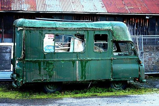 Van, Scrap Metal, Old, Junk, Rusty, Broken, Metal