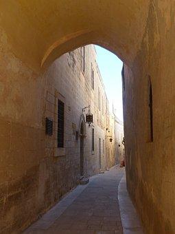 Arch, Malta, Alley, Eng, Narrow