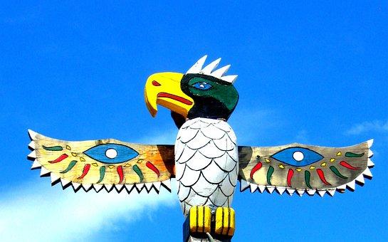 Totem, Pole, Bird, Wings, Native, American