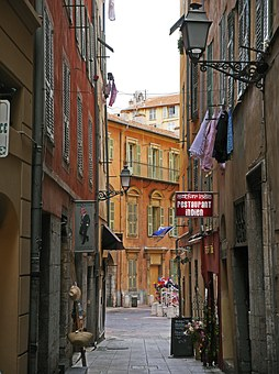 Old Town Lane, Nice, South Of France, Pitoresk