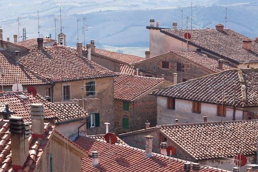 Middle Ages, Village, Roof, Italy, Medieval, Old, Eng