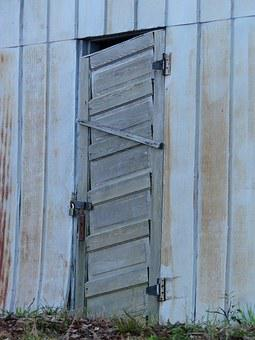 Shed, Door, Building, Wooden, Wood, Barn, Rural, Old
