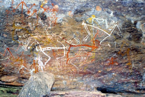 Aboriginal, Painting, Rock Painting, Australia, Outback