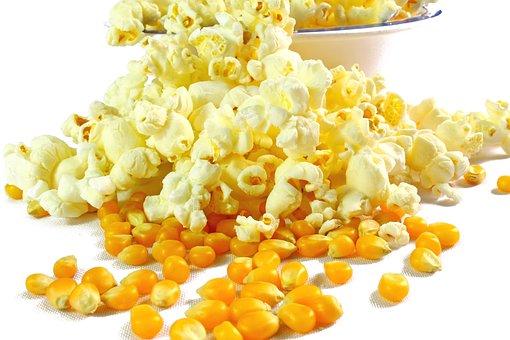 Popcorn, Popcorn In Butter, Corn, Food
