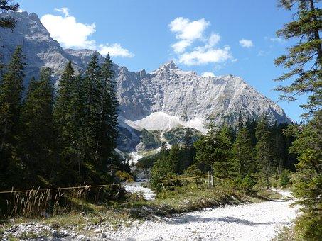 Risstal, Eng, Karwendel, Mountains, Hiking, Riverbed