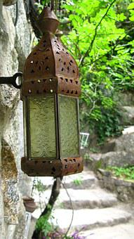 Old Lamp, Metal, Tealight Holder, Rusty