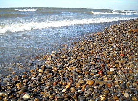 Beach, Shore, Waves, Lake Erie, Madison Ohio