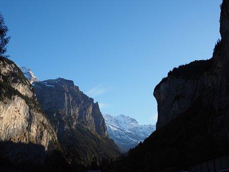 Lauterbrunnen, Valley, Eng, Steep, Steep Wall