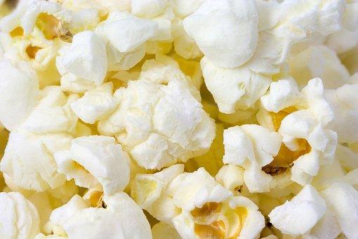 Corn, Pop, Popcorn, Food, Sweet, Cinema, Macro, Detail