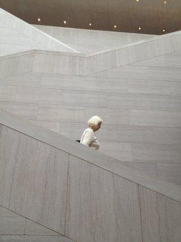 Grandmother, Grandparents, Museum, White