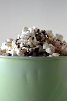 Popcorn, White, Yellow, Food, Foods, Bowl, Salty