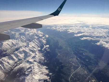 Jet, Alps, Travel, Mountain, Flight, Sky, Airplane