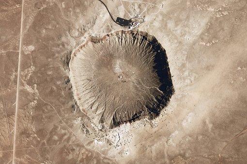 Meteor, Crater, Meteorite Impact, Arizona