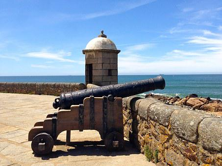 Gun, Fortress, Weapon, Booked, Coast, Sea, Sea View