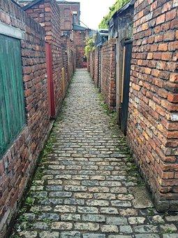 Alley, Backstreet, Cobbles, Alleyway, Urban, Building