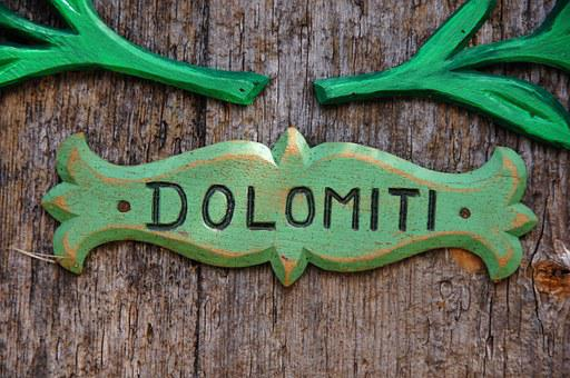 Label, Written, Ladinia, Carving, Green, Wood