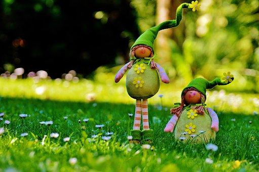 Spring Imp, Imp, Funny, Cute, Sweet, Meadow, Dwarf